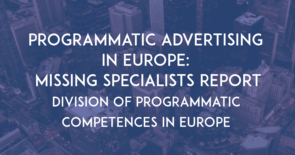 Programmatic Advertising In Europe: Missing Specialists