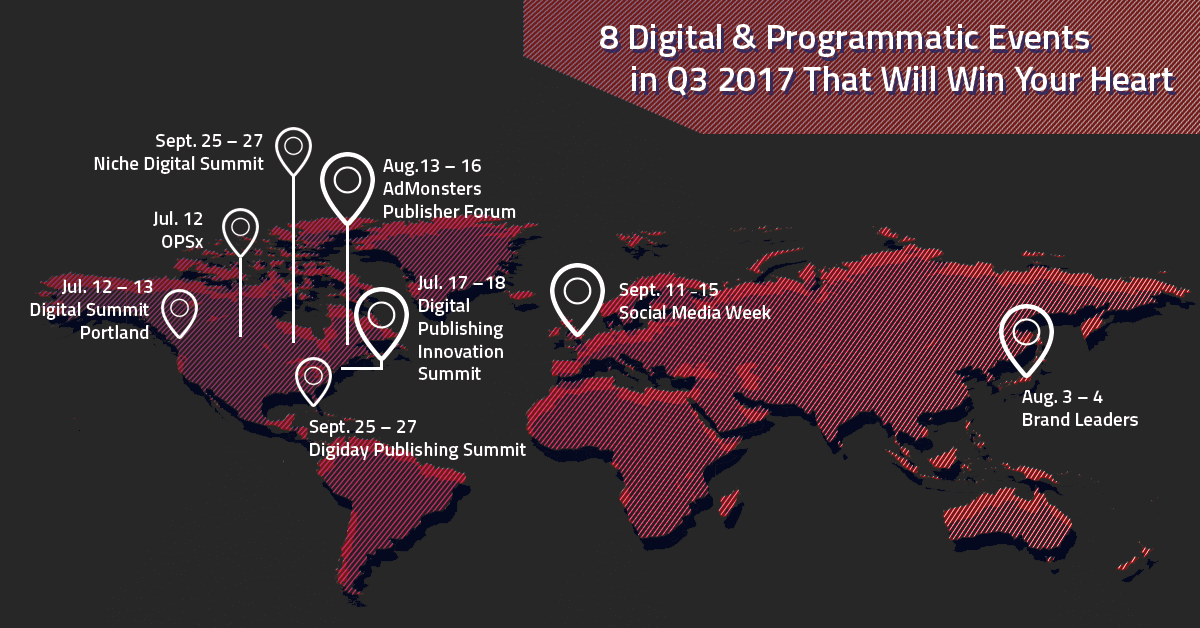 8 digital programmatic events in 2017